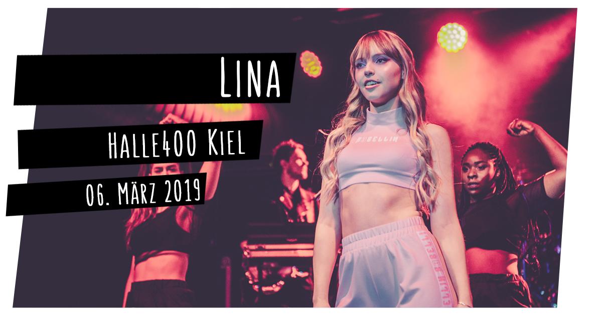 Lina in der Halle 400 in Kiel