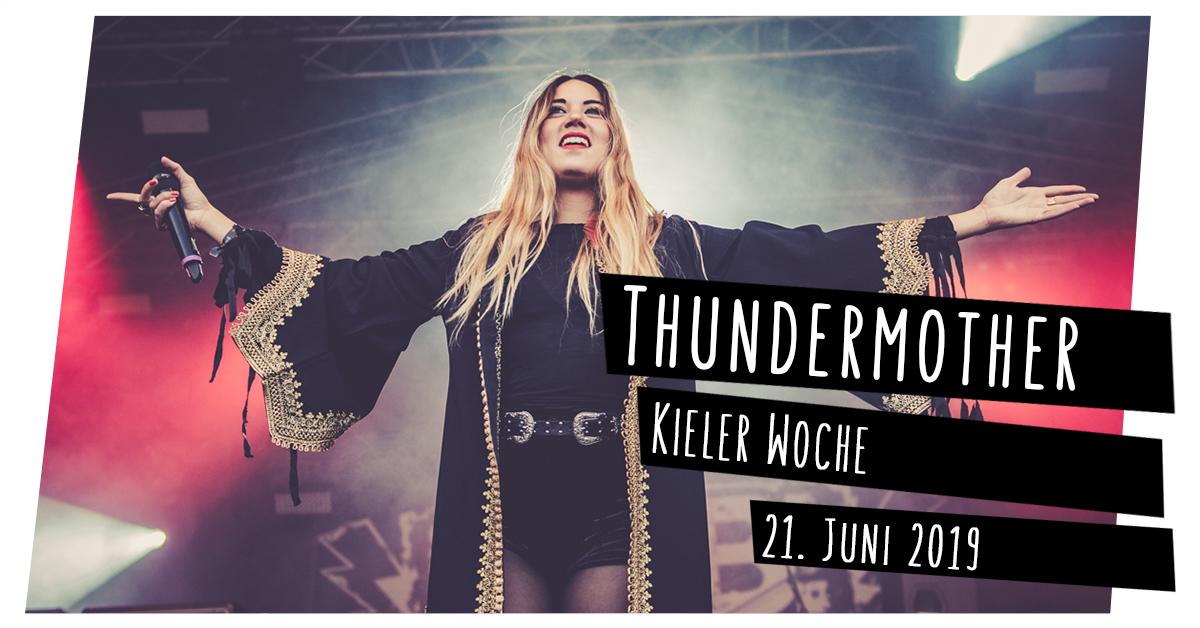 Konzertfotos: Thundermother auf der Kieler Woche in Kiel
