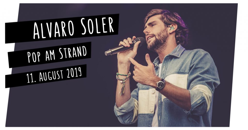 Alvaro Soler bei Pop am Strand