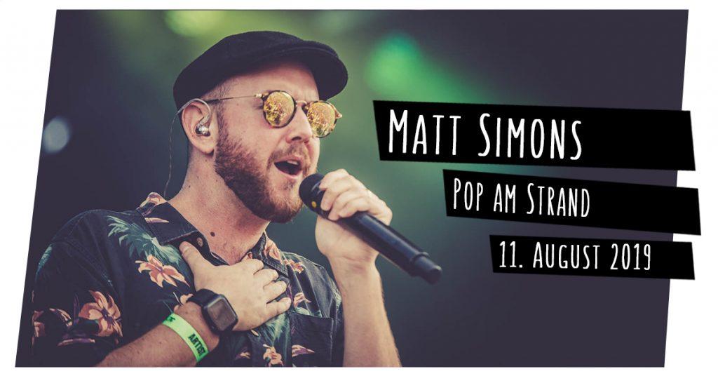 Matt Simons bei Pop am Strand