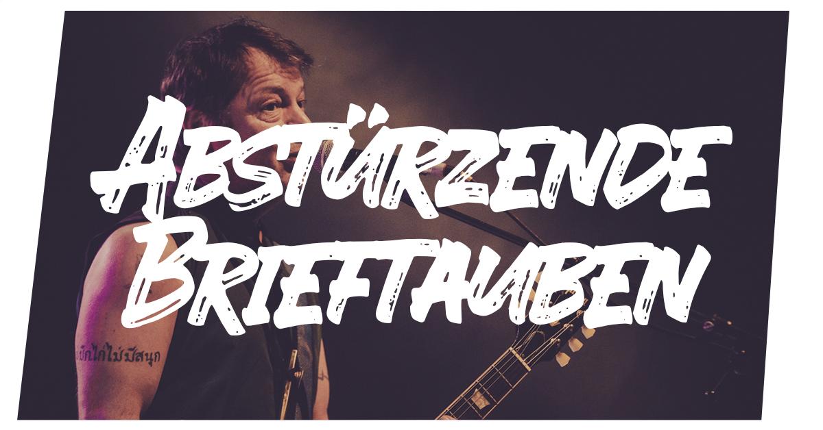Konzertfotos Abstürzende Brieftauben live in Kiel